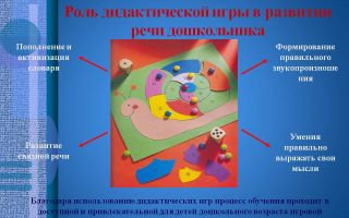Использование игр в развитии детей дошкольного возраста