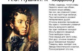Пушкин «к чаадаеву»
